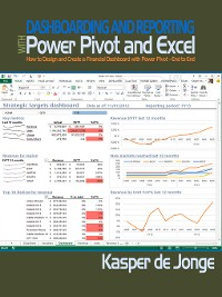 Cover Dashboarding and Reporting with Power Pivot and Excel