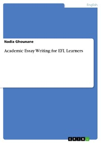Cover Academic Essay Writing for EFL Learners