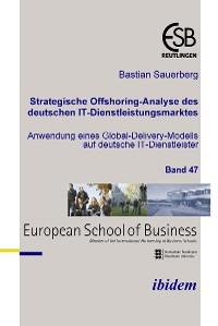 Cover Strategische Offshoring-Analyse des deutschen IT-Dienstleistungsmarktes