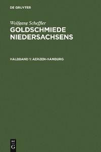 Cover Goldschmiede Niedersachsens