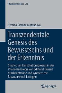 Cover Transzendentale Genesis des Bewusstseins und der Erkenntnis