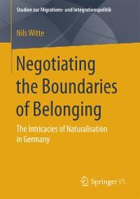 Cover Negotiating the Boundaries of Belonging