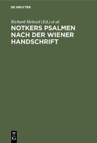 Cover Notkers Psalmen nach der Wiener Handschrift