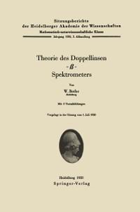 Cover Theorie des Doppellinsen--Spektrometers