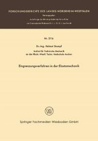 Cover Eingrenzungsverfahren in der Elastomechanik