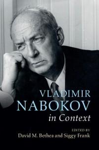 Cover Vladimir Nabokov in Context