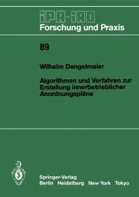 Cover Algorithmen und Verfahren zur Erstellung innerbetrieblicher Anordnungsplane