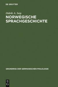 Cover Norwegische Sprachgeschichte