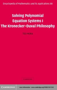 Cover Solving Polynomial Equation Systems I