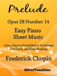 Cover Preude Opus 28 Number 14 Easy Piano Sheet Music