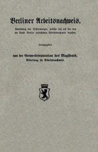 Cover Berliner Arbeitsnachweis