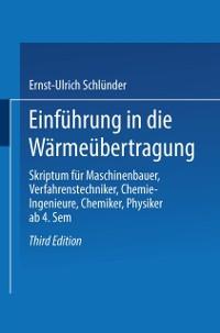 Cover Einfuhrung in die Warmeubertragung