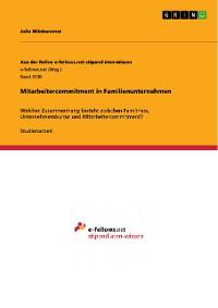 Cover Mitarbeitercommitment in Familienunternehmen