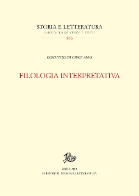 Cover Filologia interpretativa