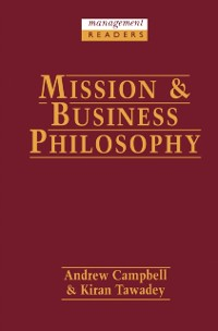 Cover Mission and Business Philosophy