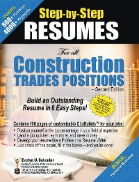 Cover Step-by-Step RESUMES For all Construction Trades Positions