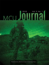 Cover Marine Corps University Journal, Volume 9, Number 1