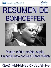 Cover Resumen De Bonhoeffer