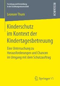 Cover Kinderschutz im Kontext der Kindertagesbetreuung