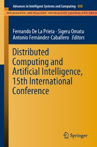 Cover Distributed Computing and Artificial Intelligence, 15th International Conference