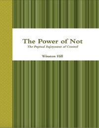 Cover The Power of Not: The Perpetual Enjoyment of Control