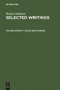 Cover Slavic Epic Studies