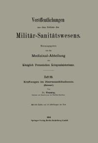 Cover Kraftwagen im Heeressanitatsdienste