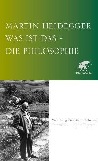 Cover Was ist das - die Philosophie?