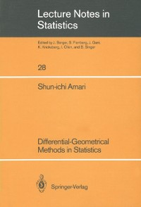 Cover Differential-Geometrical Methods in Statistics