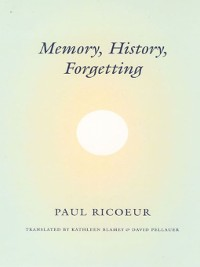 Cover Memory, History, Forgetting