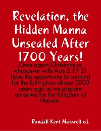 Cover Revelation, the Hidden Manna Unsealed After 1700 Years