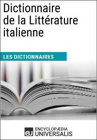 Cover Dictionnaire de la Littérature italienne