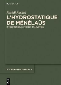 Cover L'hydrostatique de Ménélaüs