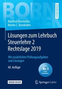 Cover Losungen zum Lehrbuch Steuerlehre 2 Rechtslage 2019