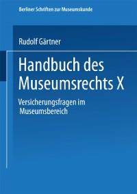 Cover Handbuch des Museumsrechts X