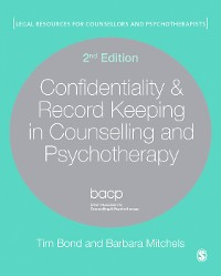 Cover Confidentiality & Record Keeping in Counselling & Psychotherapy
