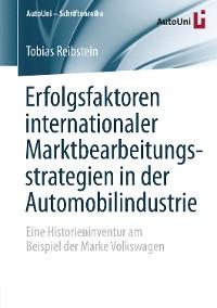 Cover Erfolgsfaktoren internationaler Marktbearbeitungsstrategien in der Automobilindustrie