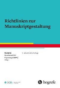 Cover Richtlinien zur Manuskriptgestaltung