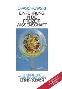 Cover Einfuhrung in die Freizeitwissenschaft