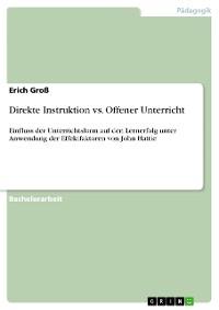 Cover Direkte Instruktion vs. Offener Unterricht