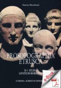 Cover Prosopographia etrusca II. Studia. Gentium mobilitas