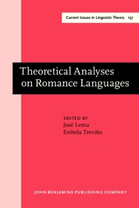 Cover Theoretical Analyses on Romance Languages