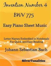 Cover Invention Number 4 Bwv 775 Easy Piano Sheet Music