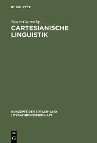 Cover Cartesianische Linguistik