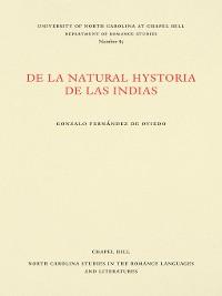 Cover De la natural hystoria de las Indias