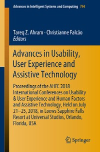 Cover Advances in Usability, User Experience and Assistive Technology