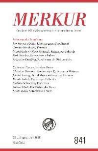 Cover MERKUR Gegründet 1947 als Deutsche Zeitschrift für europäisches Denken - 2019-6
