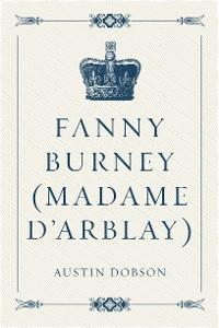 Cover Fanny Burney (Madame D'Arblay)