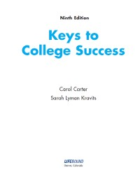 Cover Keys to College Success