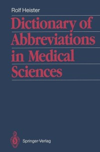 Cover Dictionary of Abbreviations in Medical Sciences